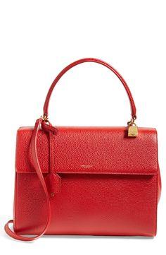 Trending for fall! Red hot Saint Laurent leather satchel.