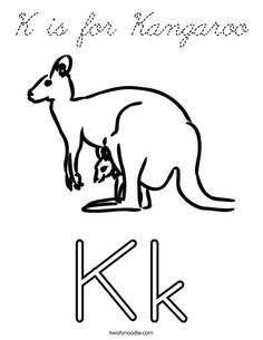 K Is For Kangaroo Coloring Page is for Kangaroo Coloring Page - Practice your cursive. Add this page ...
