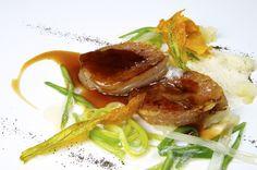 Morros de ternera. Bal D'Onsera restaurante con estrella michelin en Zaragoza.