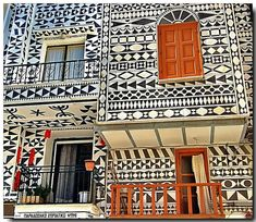 Pirgi Chios Greece..Famous for Xysta a medieval technic for wall decoration. by…