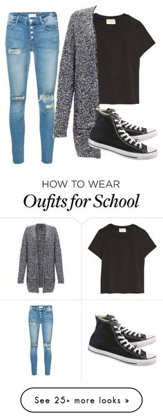 """Preparing from School"" by ambyclark on Polyvore featuring Mother, Miss Selfridge and Converse"