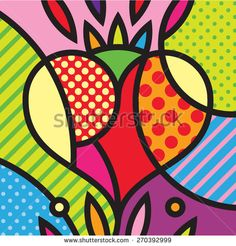 Heart. Mexico. Love. Pop-art modern illustration for your design.