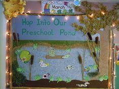 Hop into our preschool pond bulletin board