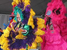 Mardi Gras Indians at Jazzfest '12
