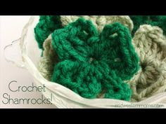 How To Crochet A Shamrock - Midwestern Moms