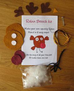 DIY craft kit - felt robin brooch £5.00