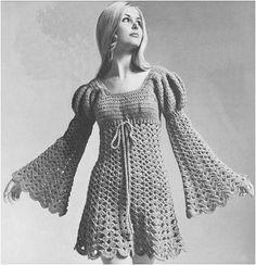 Crochet Dress Pattern Vintage 60s Crochet Juliet di Liloumariposa