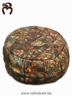 ॐ NAMASTE ॐ Valódi #bőrből, kézzel varrott rendkívül kényelmes, #luxus bőr #padlópárna Nyugat-Marokkóból, Essaouirából.  -leather seat cushion-   www.indiabolt.hu ॐ