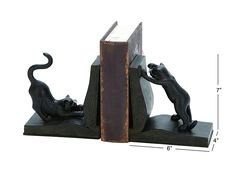 Cat Bookend Pair for Books Lovers