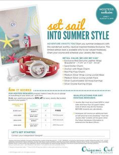 Origami Owl Summer 2015 Hostess Exclusive