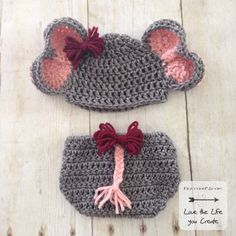PATTERN Elephant Hat and Diaper Cover with Tail for Newborn. Instant  Download Crochet Pattern Newborn 57c8514fe751