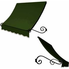 Charleston Scrilled Arms Awning, Green