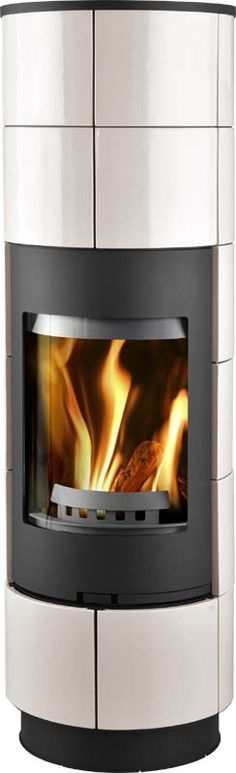 http://www.gr8fires.co.uk/thorma-delia-black-and-ivory-wood-burning-stove/?utm_source=Social&utm_medium=Social - Thorma Delia Black and Ivory Wood Burning Stove - Rounded Woodburner