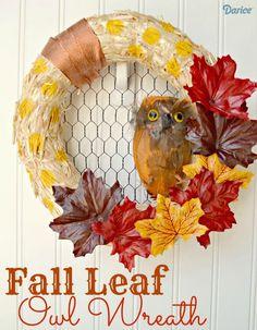 Make Your Own Fall Leaf DIY Wreath