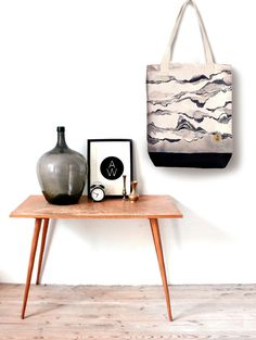 Tote Bag THE SHORE 100% Natural Cotton by AnnetWeelinkDesign
