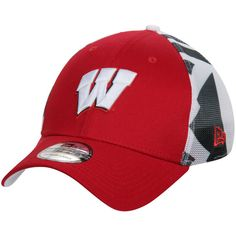 Wisconsin Badgers New Era NCAA Logo Wrapped 39THIRTY Flex Hat - Red - $20.99