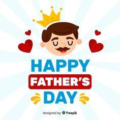 Fondo del día del padre en diseño plano | Free Vector #Freepik #freevector #fondo #corazon #tarjeta #amor Daddy Day, Happy Fathers Day, Ads, Vector Freepik, Photography Studios, Design, Folk, Parents, Google