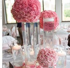Wedded Ever After Non Fl Centerpieces I Think This Is Tissue Paper