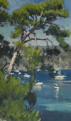 Yachts off St Jean Cap Ferrat - Paul Rafferty Beside Still Waters, Ferrat, Seascape Paintings, Large Art, Yachts, Art And Architecture, Watercolor Art, Photo Art, Abstract Art