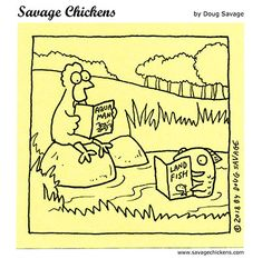 Comics Savage Chickens, Chicken Jokes, Intp, Cool Cartoons, Comic Strips, Laughing, Funny Stuff, The Creator, Hilarious