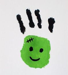 kids-handprint-craft-idea-frankenstein