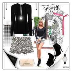 """""""Taylor Swift"""" by ilona-828 ❤ liked on Polyvore featuring Christian Louboutin, ALDO, Shades of Grey by Micah Cohen, Oasis, Alice + Olivia, Olivia Burton, Dinny Hall, StreetStyle, Summer and polyvoreeditorial"""