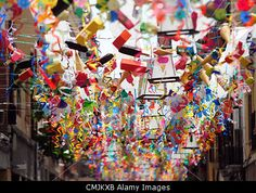 Festa Major de Gracia (Barcelona, Spain, August 16th 2012) Barcelona's Gracia neighborhood celebrates summer festivities by decorating its streets with different themes and using mostly recycle material. © Monica Condeminas / Alamy Live News