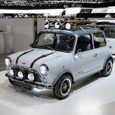 Rate this car 🔥🔥🔥 . ・・・ Mini Remastered By David Brown Mini Cooper Custom, Mini Cooper Classic, Classic Mini, Classic Cars, Rover Mini Cooper, Mini Cooper S, Mini Cooper Paceman, Lotus 7, Adventure Car