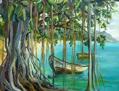 """""""Banian Pres du Lagon"""" Mauritius by Anne Delplace"""