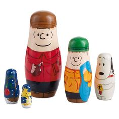 Peanuts® Hand-Painted Wooden Nesting Dolls