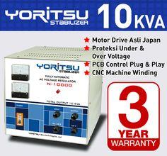 Stabilizer Yoritsu N10000 kapasitas 10 KVA.  http:// hexta.co.id, email : sales@hexta.co.id, Telp : (021) 2925-5900, 2925-5905 (Huntings)