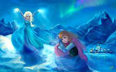 Anna y Elsa - Congelado por DreamyArtistRoxy3