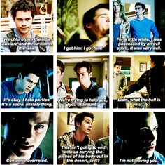 """S4 Ep4 """"The Benefactor"""" - Stiles, it's cute that Stiles told Malia he would never leave her just like she said to him!  Once again these two are so cute <3"""