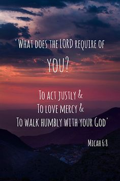 What does the Lord require from you? Not as much as you would think. #biblequotes