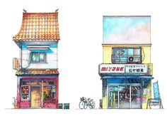 Gallery of These Watercolors Capture the Unsung Architecture of Tokyo's Eclectic Storefronts - 3