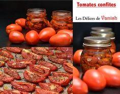tomates confites maison, conserves, tomates pour l'hiver