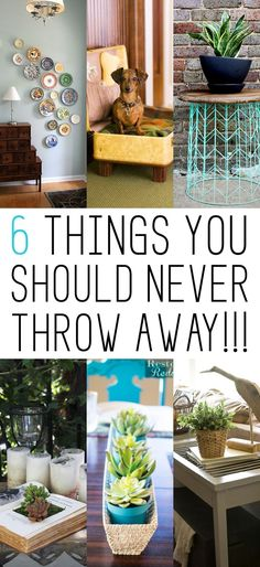 6 things you should NEVER throw away. love these creative repurposed lives for these items!
