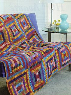 Stripe It Rich Quilt Pattern Pieced SS