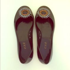 Exe Brand Flats Black flats with beautiful decorative floral embellishments! Exe Shoes Flats & Loafers