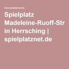 Spielplatz Madeleine-Ruoff-Straße in Herrsching   spielplatznet.de // Lässt sich gut mit einem Ausflug und Spaziergang verbinden