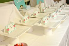 "DIY Cookie Stands from Dollar Store Paper Cups and Plates - Cookie Exchange Party Post... Lots of Budget Friendly DIY details.. ""Cast your Vote"" Table Display..Used these stands for the taste testing!"