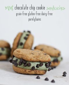 with mint avocado ice cream filling. A healthy mint chocolate chip ...
