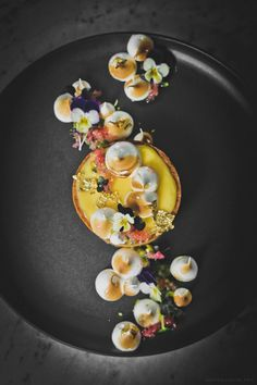 Lemon & Lime Tart by Sweet Gastronomy. Food Design, Dessert Design, Fancy Desserts, Delicious Desserts, Yummy Food, Yummy Lunch, Lemon Lime, Culinary Arts, Plated Desserts