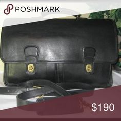 Black Leather Coach briefcase BEST OFFER! Large leather briefcase, coach - hard laptop zip up case built inside. Would like to sell ASAP because I don't like the style. BEST OFFER! Coach Bags Shoulder Bags