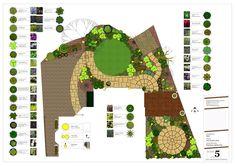 An overgrown garden in Howe Green - tidying and redesigning - Earth Designs Garden Design and Build Back Gardens, Small Gardens, Cuprinol Garden Shades, Shellac Designs, Circular Patio, Earth Design, Family Garden, Small Space Gardening, Shade Garden