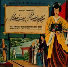 "classical-vinyl: "" Highlights from Madame Butterfly RCA Victor Red Seal (78s) Mid-Late 1940s Cover Artist Unknown """