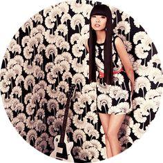 Florence Broadhurst for Kate Spade Japanese Floral wallpaper & fabric