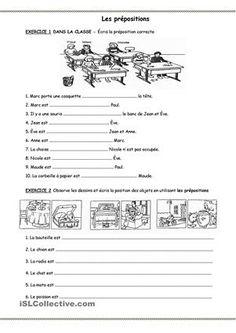 Exercices sur les prépositions avec images. Sans solutions. Document word, vous pouvez tout changer. J'ai ajouté un exercice sur la rédaction d'une carte postale. - Fiches FLE
