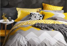 Marley Quilt Cover Set in yellow | Super A-Mart