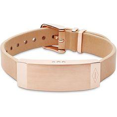 Fossil Q Reveler Fitness Tracker Bracelet ($125) ❤ liked on Polyvore featuring jewelry, bracelets, rose gold, fossil jewelry, black jewelry, black bangles and kohl jewelry